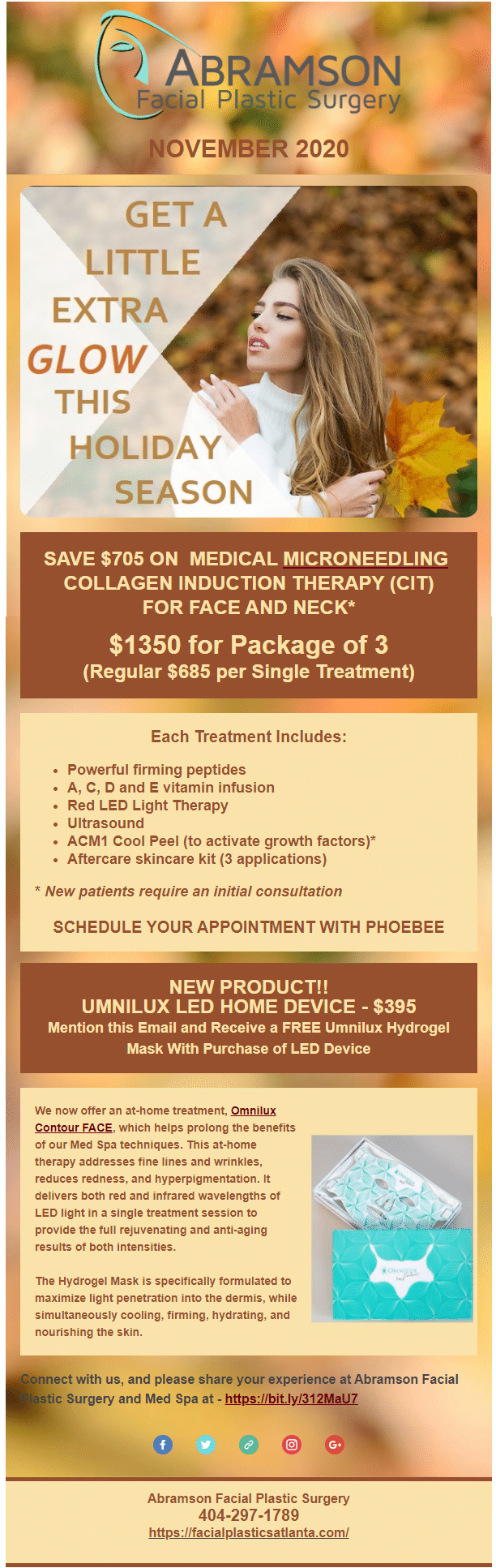 microneedling, ultrasound, red LED